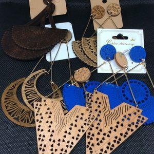Large Wooden Earrings